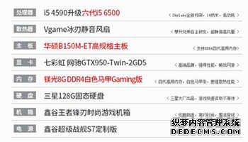 攀升兄弟i5/GTX950配置单
